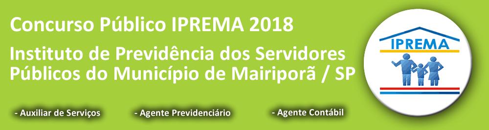 Concurso Público IPREMA Mairiporã 2018